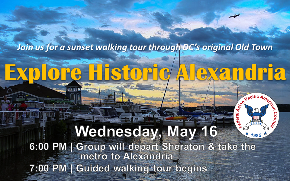 Sunset Walking Tour of Alexandria Event Registration